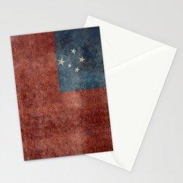 National flag of Samoa - Vintage version Stationery Cards