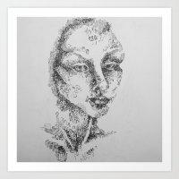 Brush Pen Test Art Print