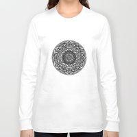 spiritual Long Sleeve T-shirts featuring Spiritual Mandala by msimona