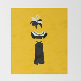 Fashion Icon: Carmem Miranda Throw Blanket