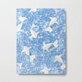 Origami Koi Fishes (Sky Pond Version) Metal Print