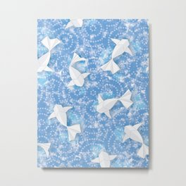 Origami Koi Fishes (Sky Pond Version) Metal Print