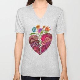 Broken Heart Unisex V-Neck
