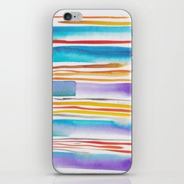 8  |181026 Lines & Color Block | Watercolor Abstract | Modern Watercolor Art iPhone Skin