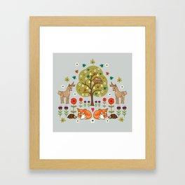 Woodland Wild Things Framed Art Print