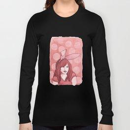 Polka Dot Bunny Long Sleeve T-shirt