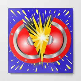 Rock Guitar Speaker Explosion Metal Print