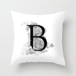 Alphabetanauts - B Throw Pillow