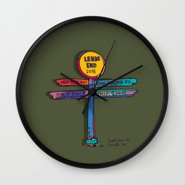 land's end sign Wall Clock