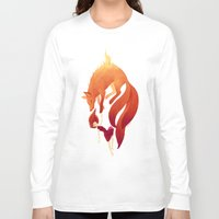 freeminds Long Sleeve T-shirts featuring Fire Fox by Freeminds