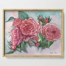 Cottage Roses Serving Tray