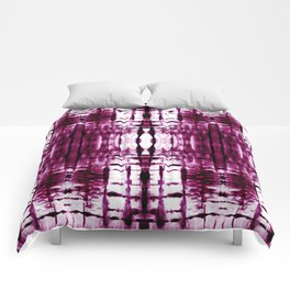 Black Cherry Plaid Shibori Comforters