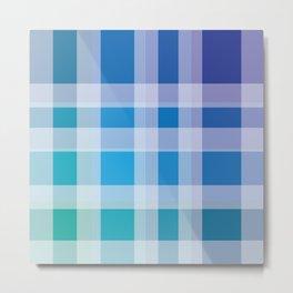 Green, Blue, Purple Plaid Metal Print