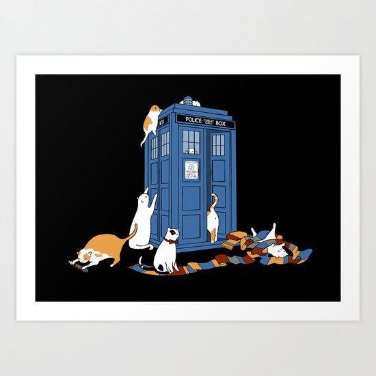 Who Cats Art Print