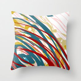 Chaotic Rosy Disorder Abstract Art Throw Pillow