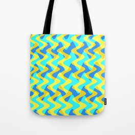 Crosswave Yellow - Electron Series 001 Tote Bag