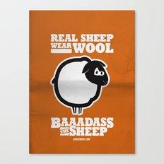 Baaadass the Sheep: Real Sheep Wear Wool Canvas Print