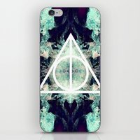 deathly hallows iPhone & iPod Skins featuring Deathly Hallows by Christine DeLong Creative Studio