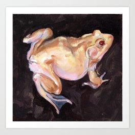 Golden Frog Art Print