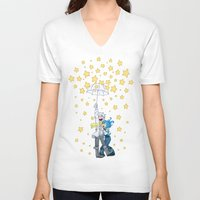 dmmd V-neck T-shirts featuring DMMd :: The stars are falling by Thais Magnta Canha