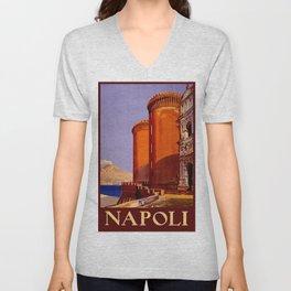 Napoli - Naples Italy Vintage Travel Unisex V-Neck