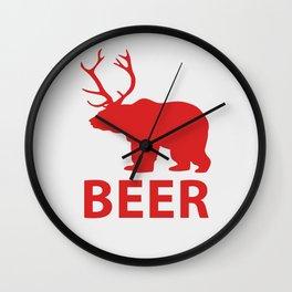 Bear + Deer = Beer Wall Clock