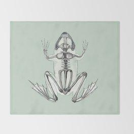 Frog Skeleton: Animal Anatomy Throw Blanket