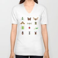 insects V-neck T-shirts featuring insects by Alysha Dawn