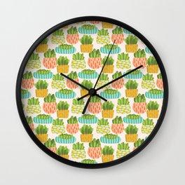 Happy Succulents Wall Clock
