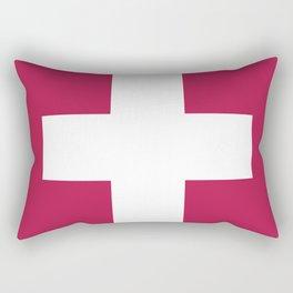 Swiss Cross Pink Rectangular Pillow