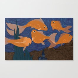Starry Fish Canvas Print
