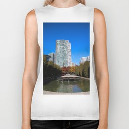 trees to breathe in the city Biker Tank