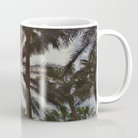 palm trees Mugs featuring Palm Trees by Magic Emilia