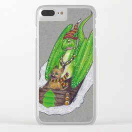 Puppy & Dragon Clear iPhone Case