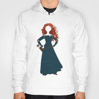merida Hoodies featuring Merida from the Brave by Alice Wieckowska