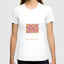 Colorado map T-shirt