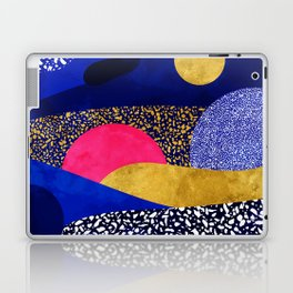 Terrazzo galaxy blue night yellow gold pink Laptop & iPad Skin