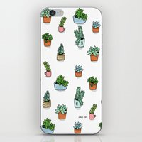 succulents iPhone & iPod Skins featuring Succulents by Annie Seo