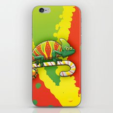 Christmas Chameleon iPhone & iPod Skin