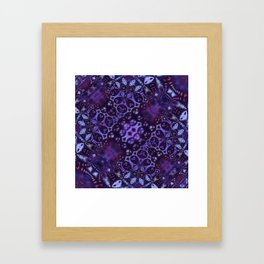 Shifting Purple Framed Art Print