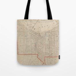 Vintage Map of Louisville KY (1880) Tote Bag