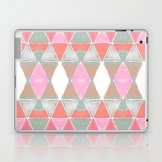 Art Deco Triangles Coral Grey Laptop & iPad Skin