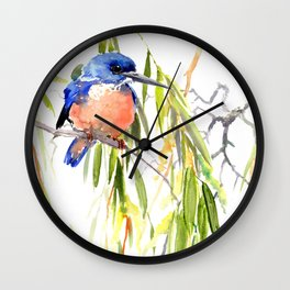 KIngfisher and Weeping Willow Wall Clock