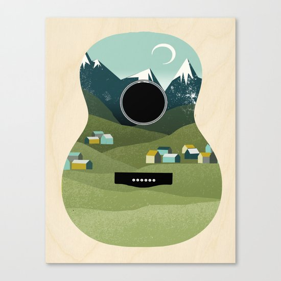 Rocky Mountain High - Guitar Canvas Print