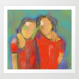 Women in Red # 7 Art Print