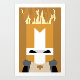 Orange Knight (Castle Crashers) Art Print