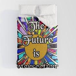 The Future is Intersectional Graffiti Sunrays Comforters