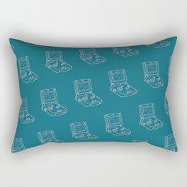 Game Boy Advance Pattern Blue Rectangular Pillow