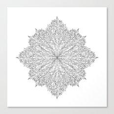flower line art - white Canvas Print