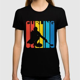 Retro Style Curling Curler Winter T-shirt